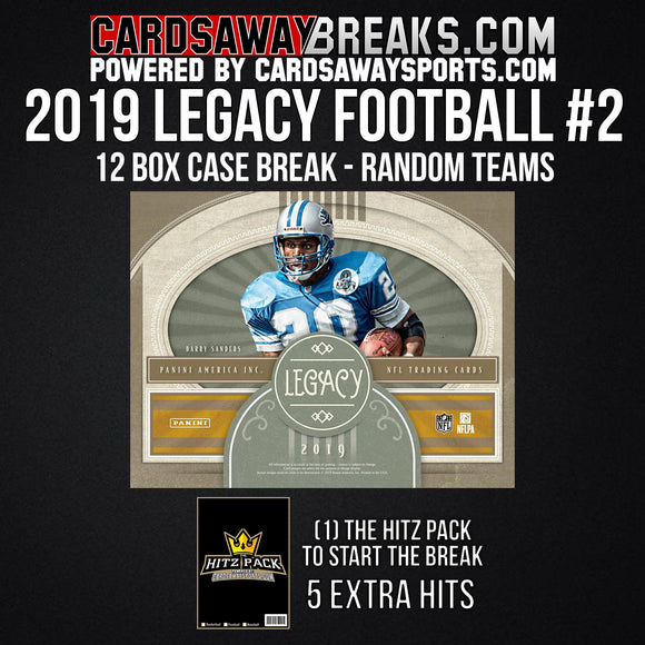2019 Legacy Football 12-Box Break - Random Teams #2