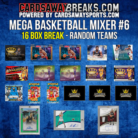 MEGA Basketball Mixer (16 Box) - RANDOM TEAMS #6 (3 BONUS CARDS + $50 GIFT CARD)