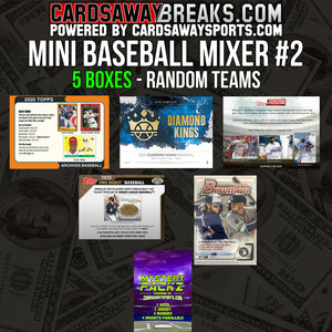 Mini Baseball Mixer (5 Box) - RANDOM TEAMS #2