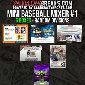 Mini Baseball Mixer (5 Box) - RANDOM DIVISIONS #1