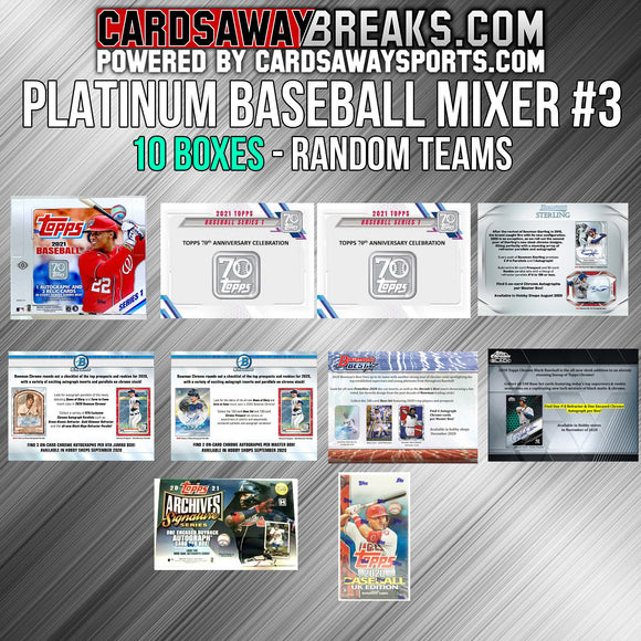 PLATINUM Baseball Mixer (10 Box) - RANDOM TEAMS #3