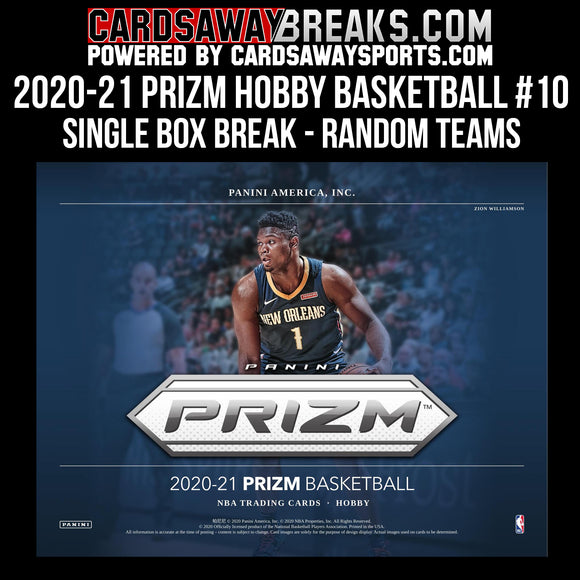 2020-21 Prizm Hobby Basketball - Single Box Break - RANDOM TEAMS #10