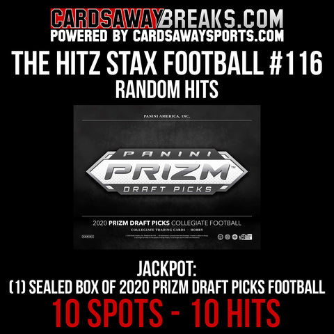 The Hitz Stax (Football) #116 - 2020 Prizm Draft Picks Football Sealed Box