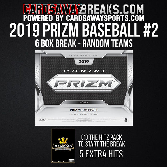 2019 Prizm Baseball 6-Box Break - Random Teams #2