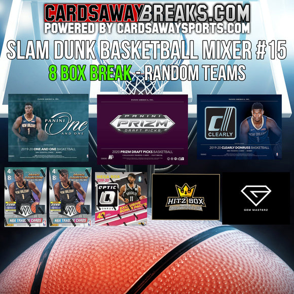 Slam Dunk Basketball Mixer (8 Box) - RANDOM TEAMS #15 ($25 GIFT CARD)