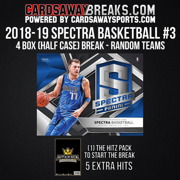 2018-19 Spectra Basketball 4-Box Break - Random Teams #3