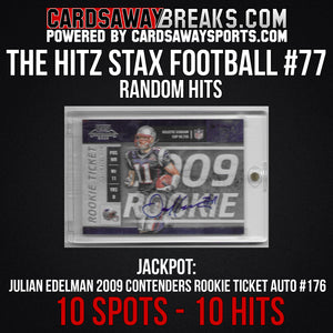 The Hitz Stax (Football) #77 - Julian Edelman Rookie Ticket Auto