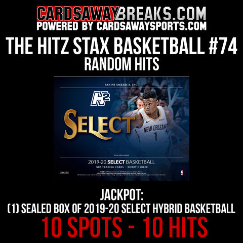 The Hitz Stax (Basketball) #74 - (1) BOX OF 2019-20 SELECT HYBRID BASKETBALL