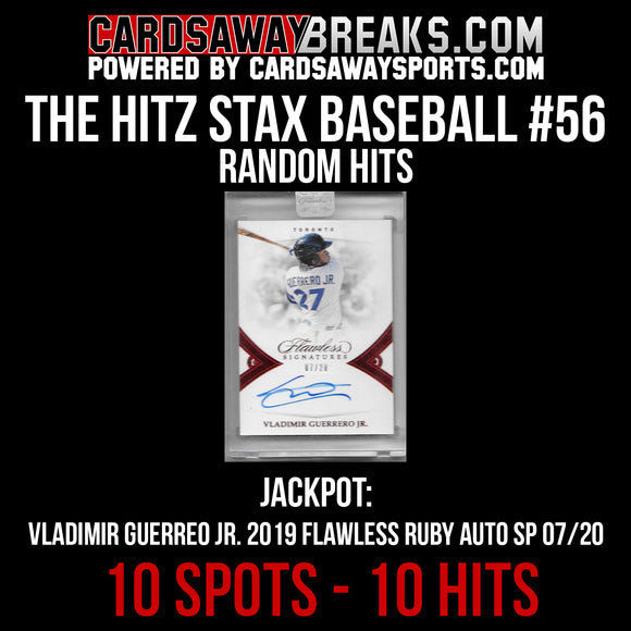 The Hitz Stax (Baseball) #56 - Vlad Guerrero Jr. Flawless On Card Auto SP/20