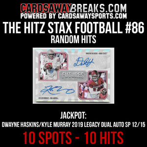 The Hitz Stax (Football) #86 - Kyler Murray/Dwayne Haskins Auto SP/15