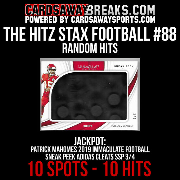 The Hitz Stax (Football) #88 - Patrick Mahomes Immaculate Cleat SP 3/4