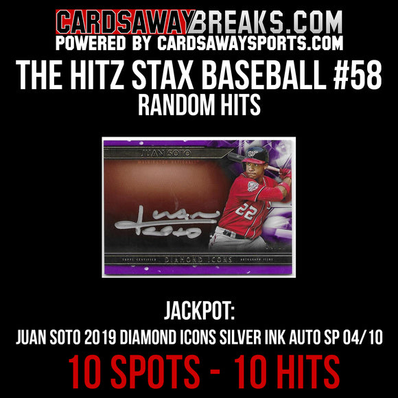 The Hitz Stax (Baseball) #56 - Juan Soto On Card Auto SP/10