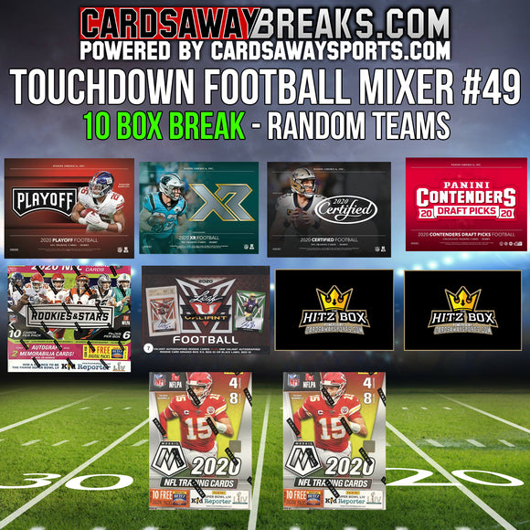 Touchdown Football Mixer (10 Box) - RANDOM TEAMS #49 ($25 GIFT CARD)