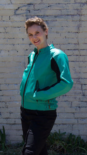 Phoenix Turquoise Leather Jacket