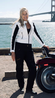 Phoenix Moonstone White Leather Jacket