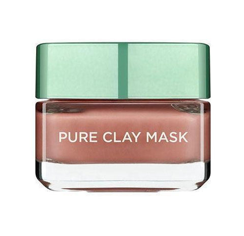 Pure Clay Red Mask with Red Algae, Exfoliates and Brightens Pores