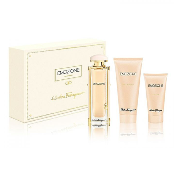 Ferragamo Emozione Set For Women EDP 92ML + Body Lotion 50ML + Shower Gel 100ML