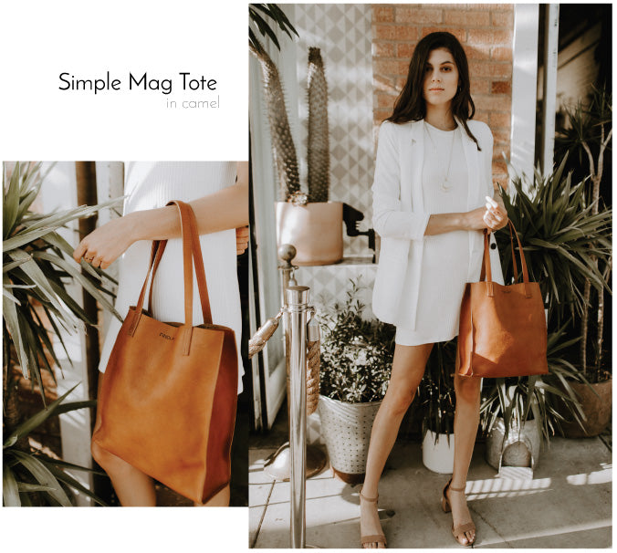 Findlay Lookbook Camel Simple Mag Tote