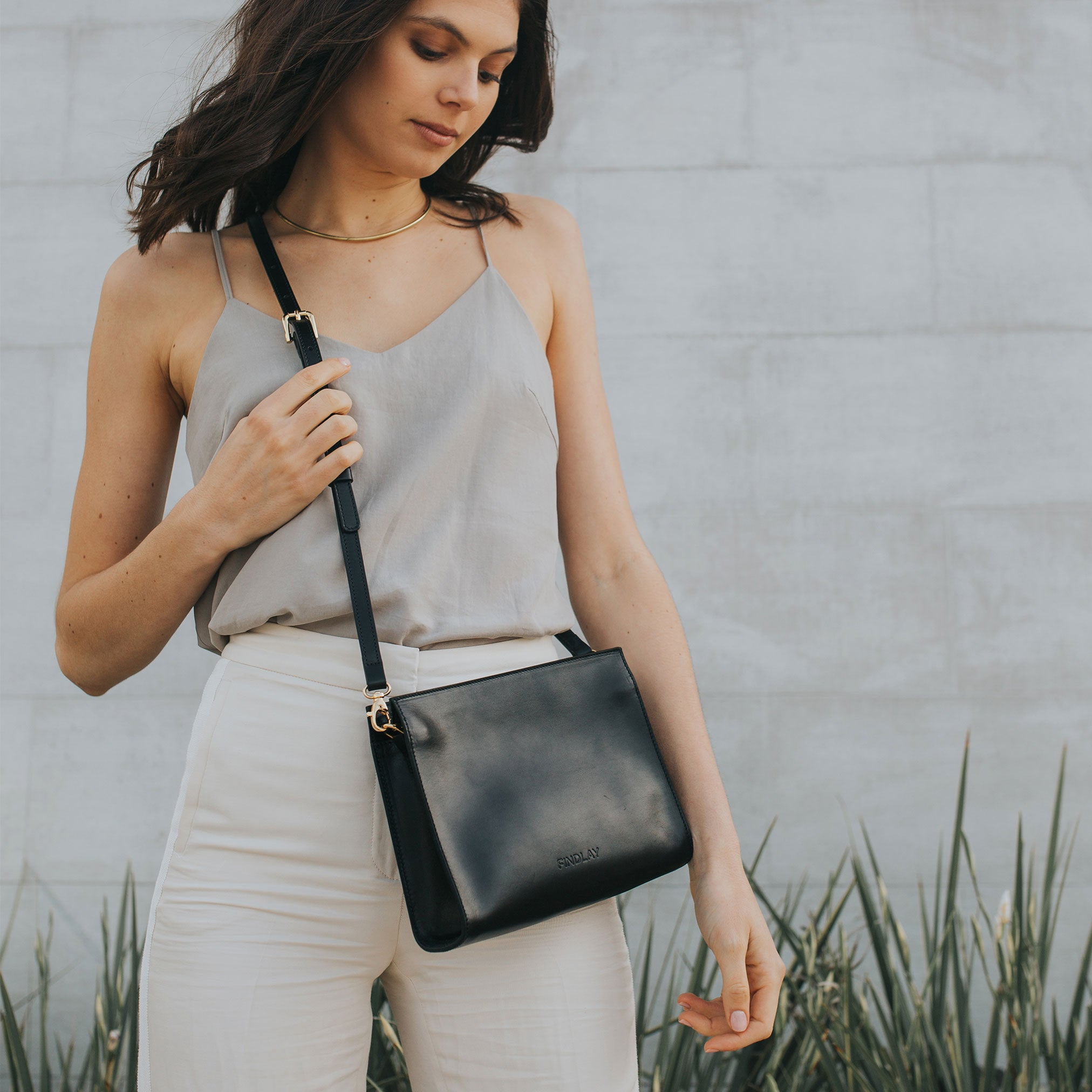 Combo Clutch Crossbody, Black Lux