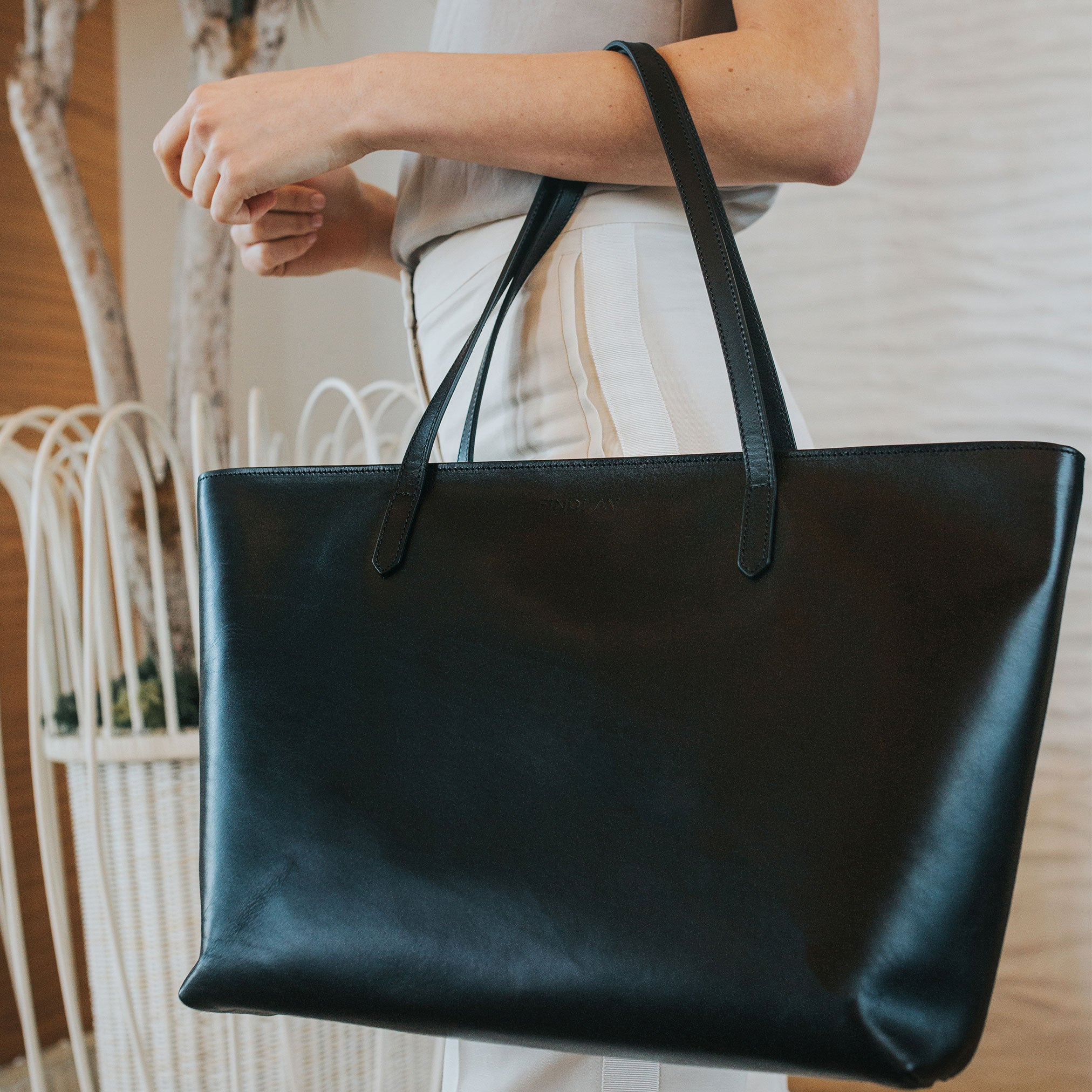 East West Tote, Black Lux