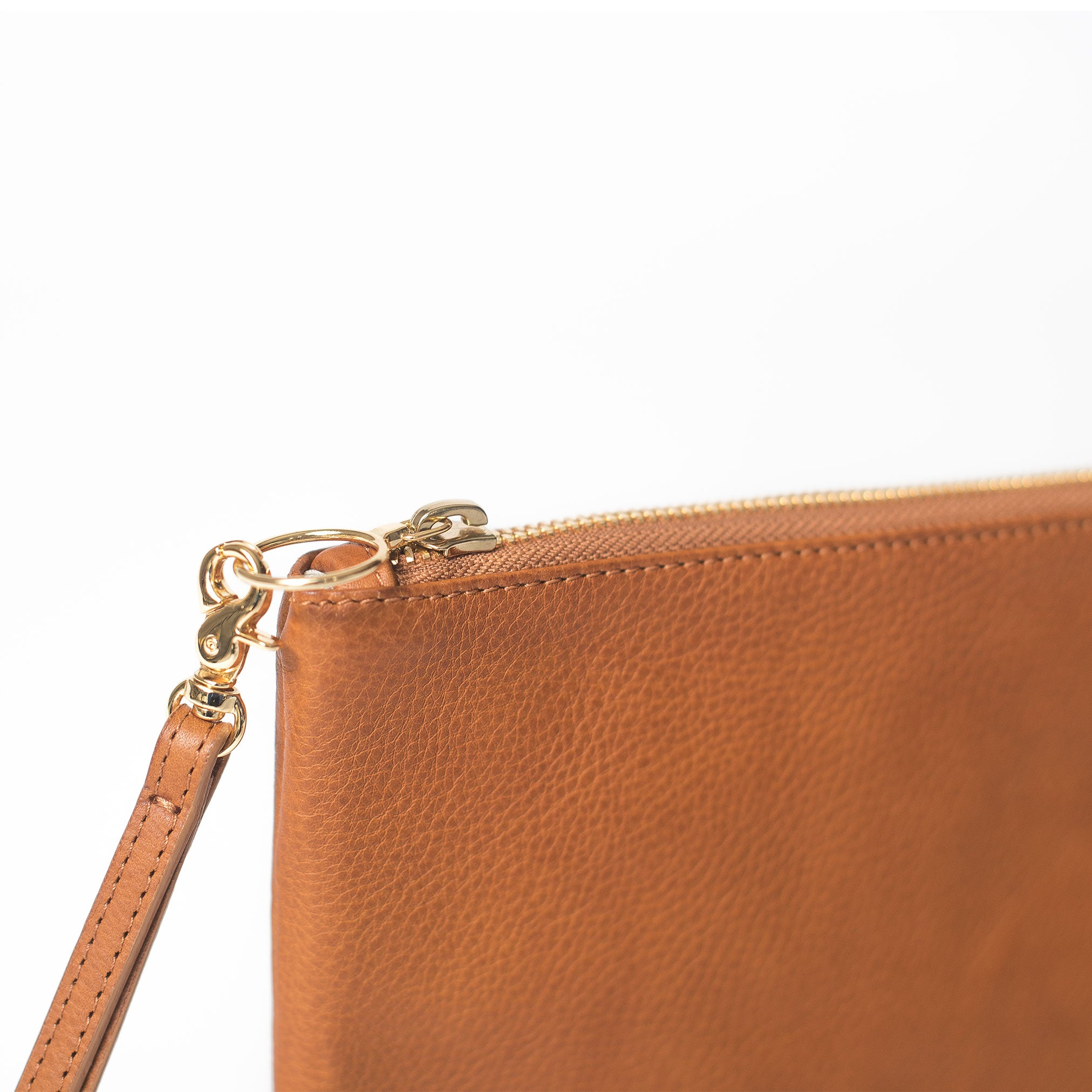 Perfect Zip Pouch, Camel