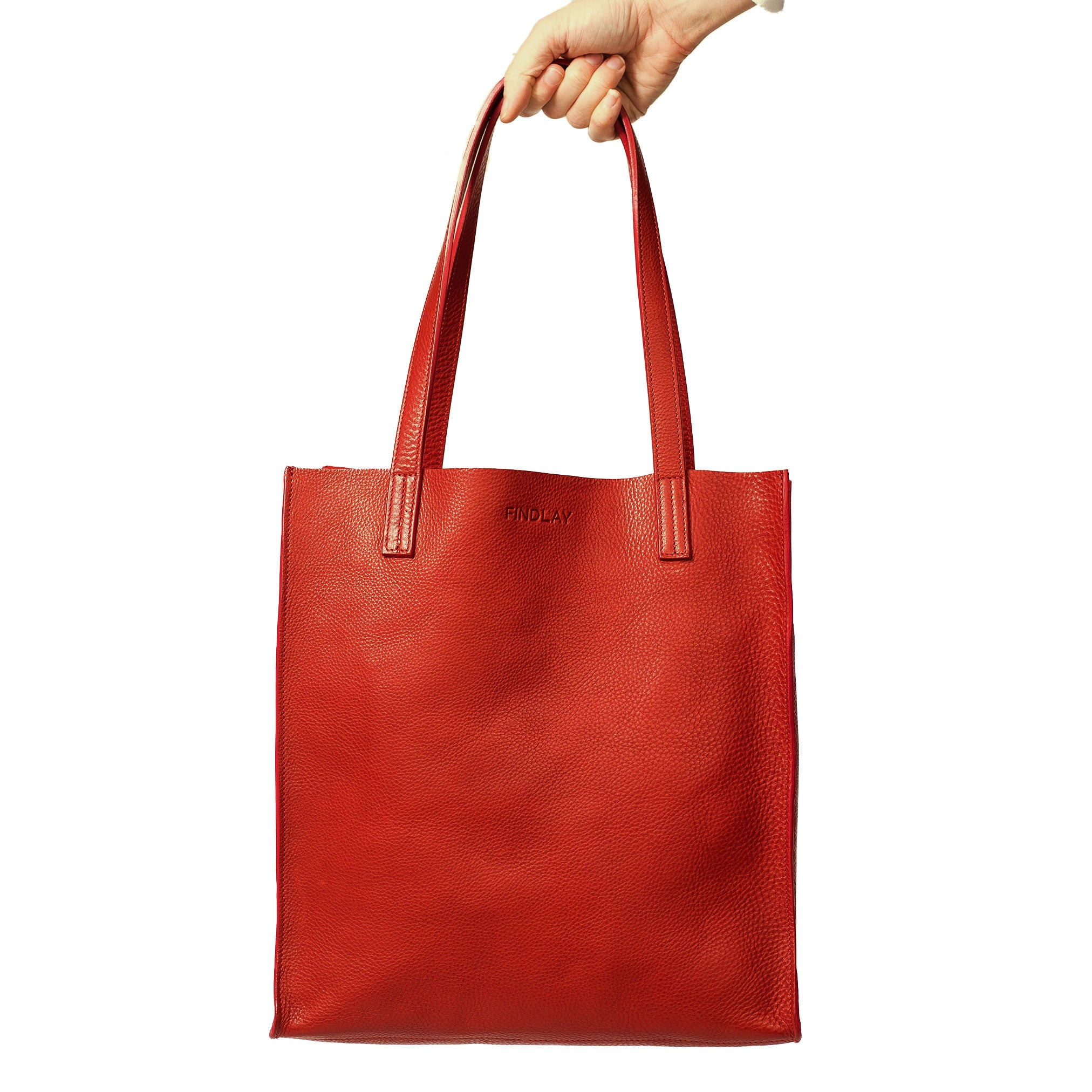 Simple Mag Tote, Cherry