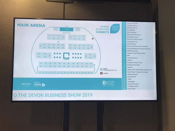 Nixplay Signage Powers the Devon Business Show 2019 - June 12