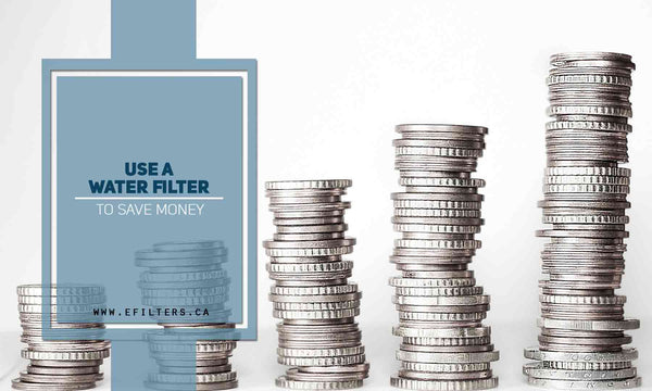 Use a water filter to save money