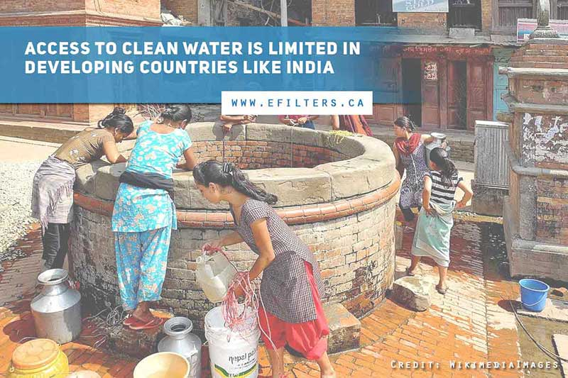 Access to clean water is limited in developing countries like India