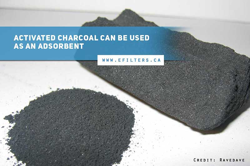 Activated charcoal can be used as an adsorbent