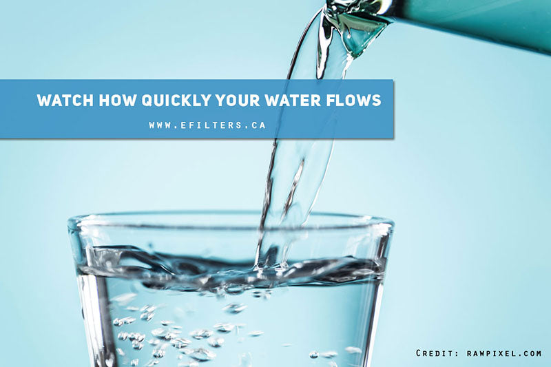 Watch how quickly your water flows