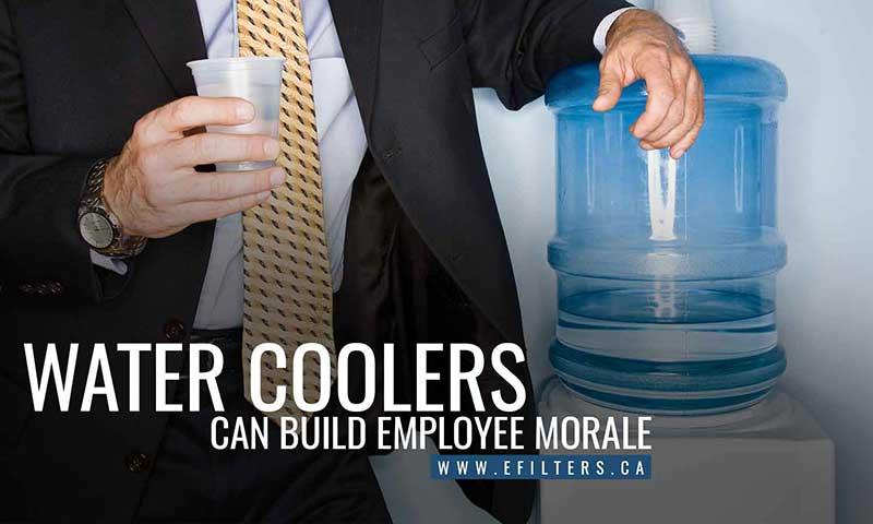 Water coolers can build employee morale