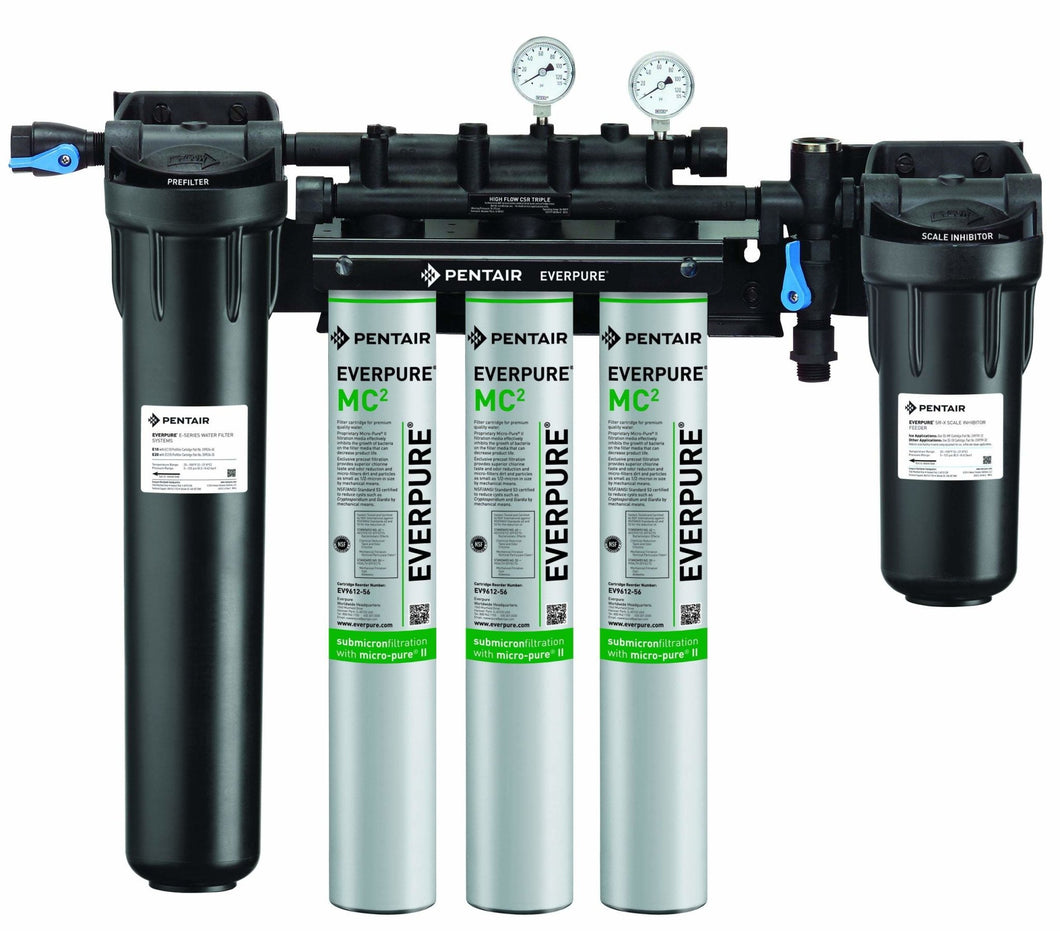 Everpure High Flow Triple CSR Water Filter System EV9328-06 - Efilters.ca