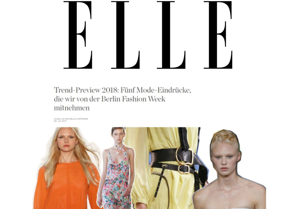 Trend Preview with our collection Flora by ELLE