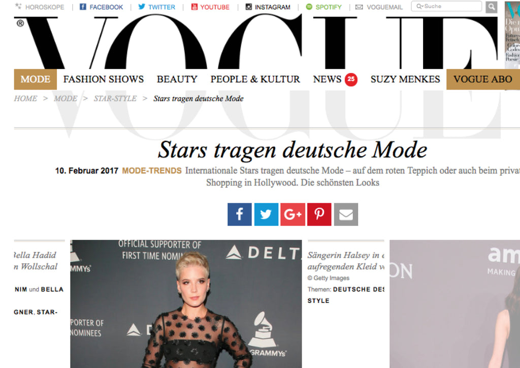 VOGUE- Singer Halsey in an exciting dress of Steinrohner
