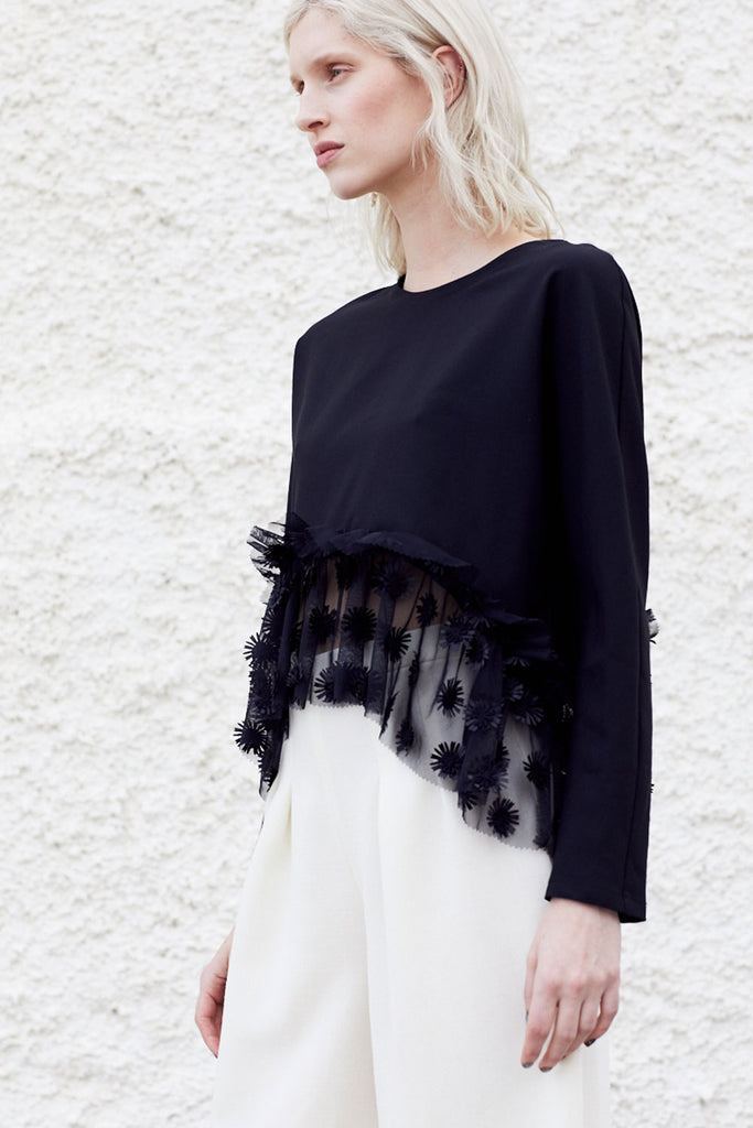 PSORA RUFFLED SHIRT