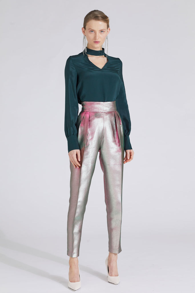 ORCHID PLEAT TROUSERS
