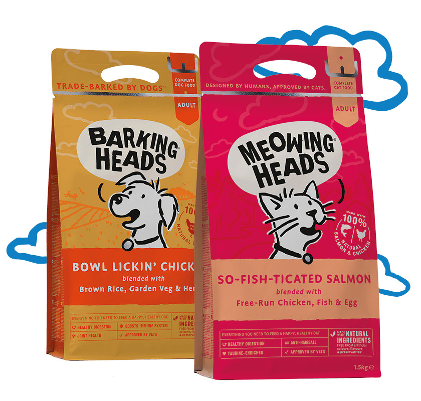 barking heads and meowing heads packs