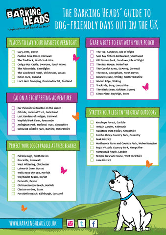 barking heads dog friendly beaches infographic
