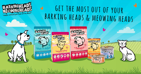 barking heads and meowing heads range