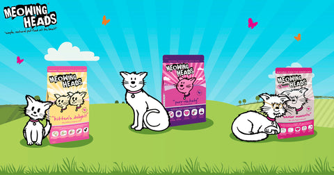 meowing heads cat food range