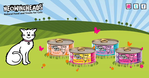 meowing heads wet cat food range