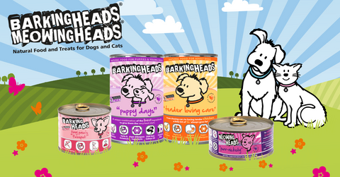 barking heads and meowing heads wet tins