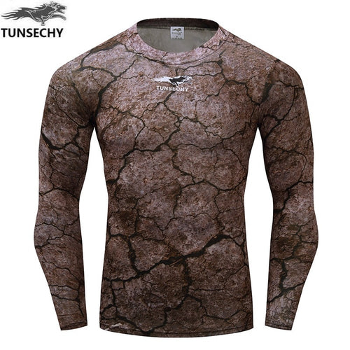 Fitness T shirt Men Compression shirts