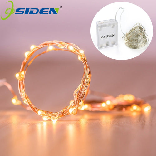 Fairy Lights 2M 5M 10M 100 Led Strings Copper Wire 3XAA Battery Operated