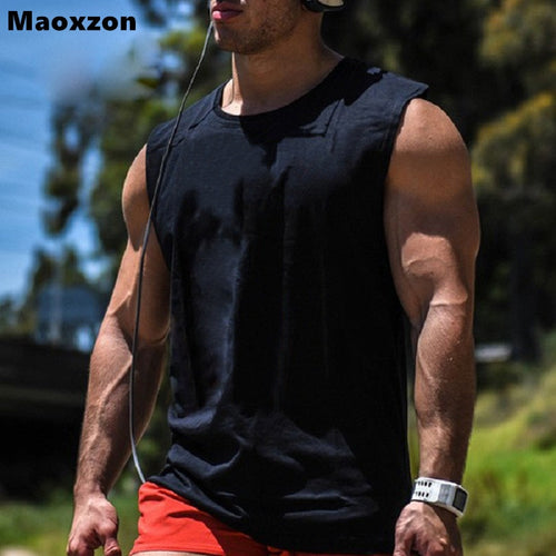 Maoxzon Men's Cotton Loose Tank Tops