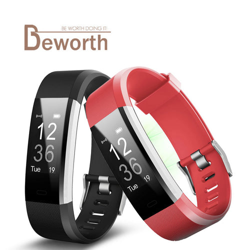 ID115 HR Plus Smart Wristband Heart Rate Monitor Fitness Sleep GPS Activity Tracker - XtremeDeals4U