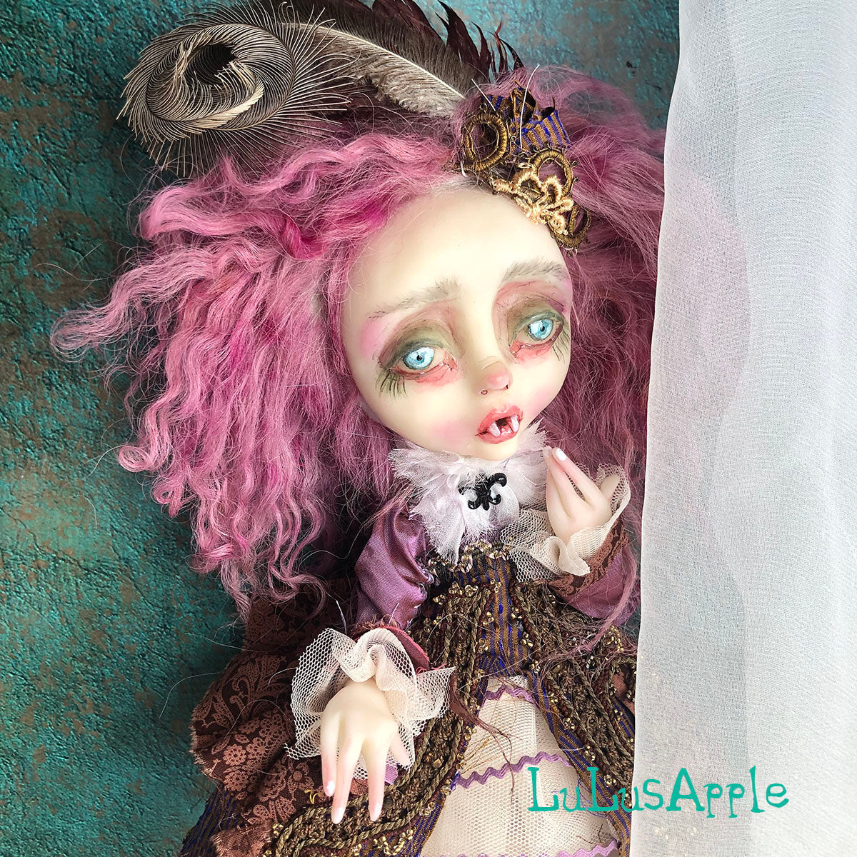 Adeline the Rococo Vampire Winter OOAK Art Doll LuLusApple