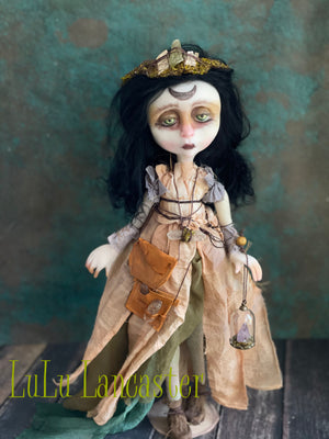 Iddo the Crystal Witch OOAK Art Doll LuLu Lancaster