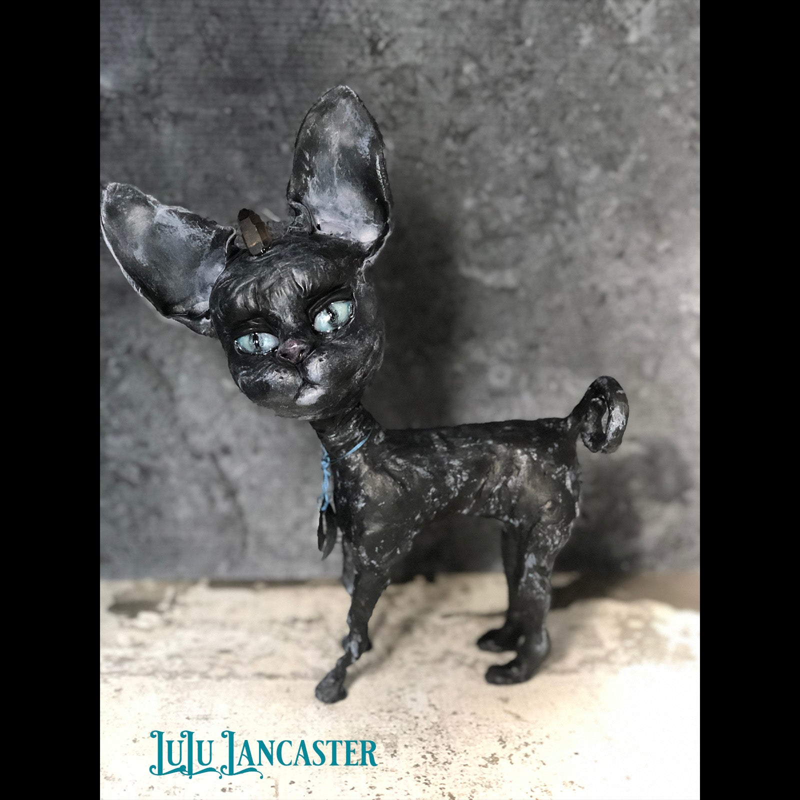 Jorda the Sphynx Cat OOAK Art Doll LuLu Lancaster